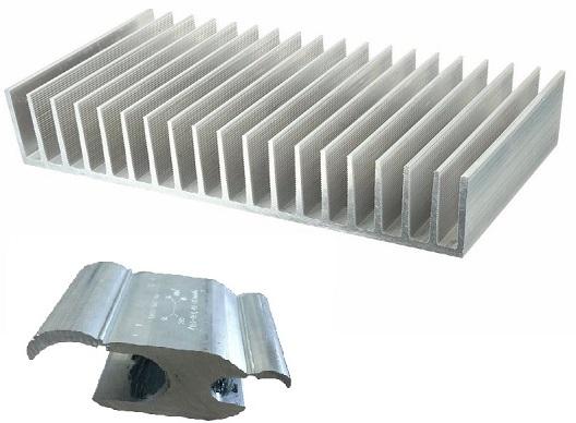 conectores e dissipador de aluminio hyspex
