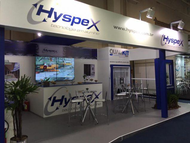Hyspex Aluminio Glass Estande