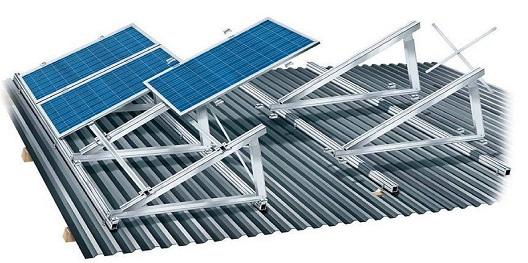 perfil de aluminio para fixar painel solar hyspex
