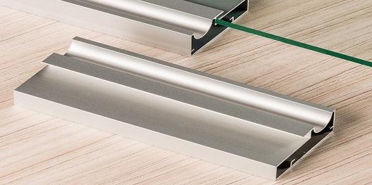 perfil de aluminio para porta de vidro hyspex